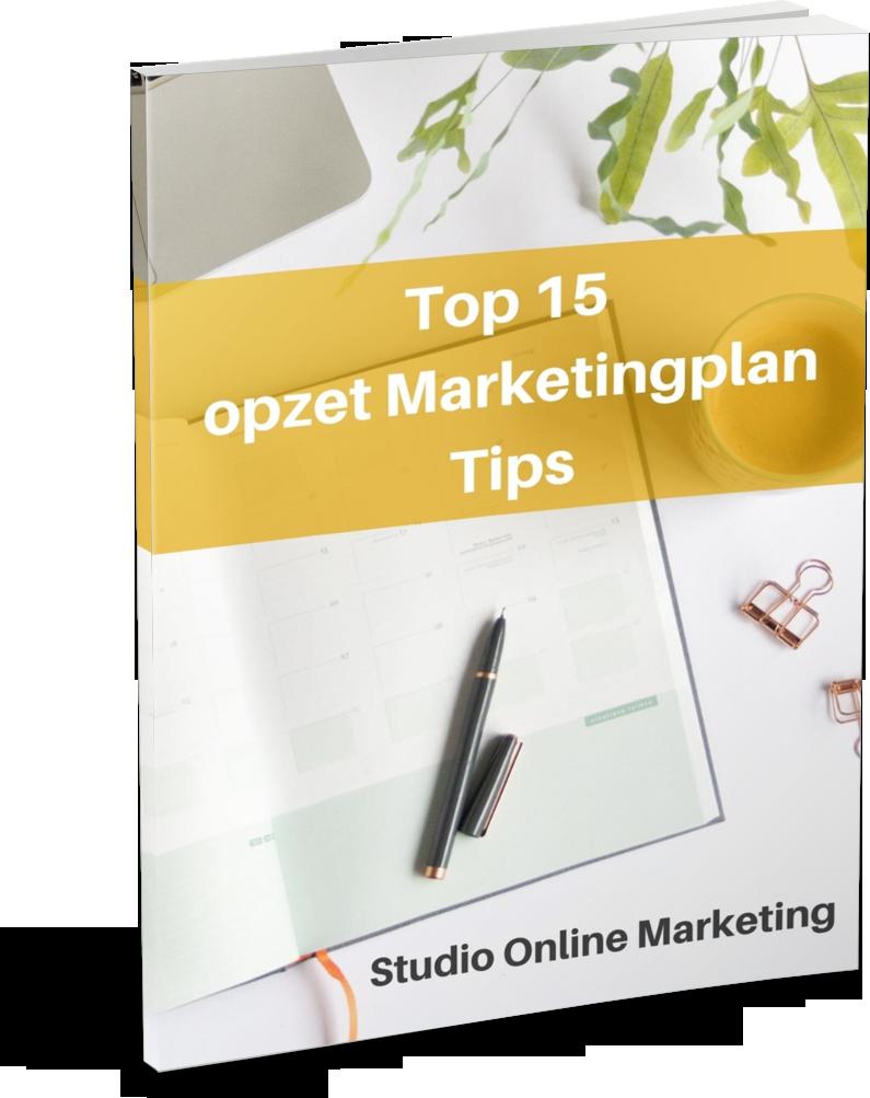 Top 15 opzet marketingplan tips - cover